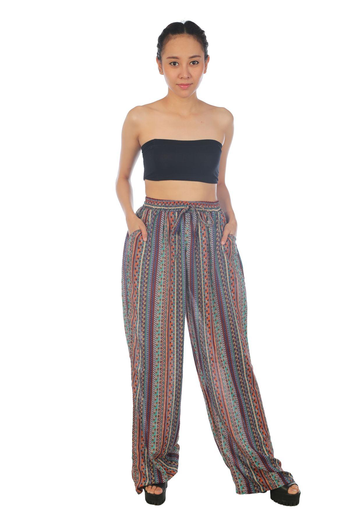 Lastest Lofbaz Womenu0026#39;s Pattern Printed Wide Leg Harem Palazzo Pants Trousers | EBay
