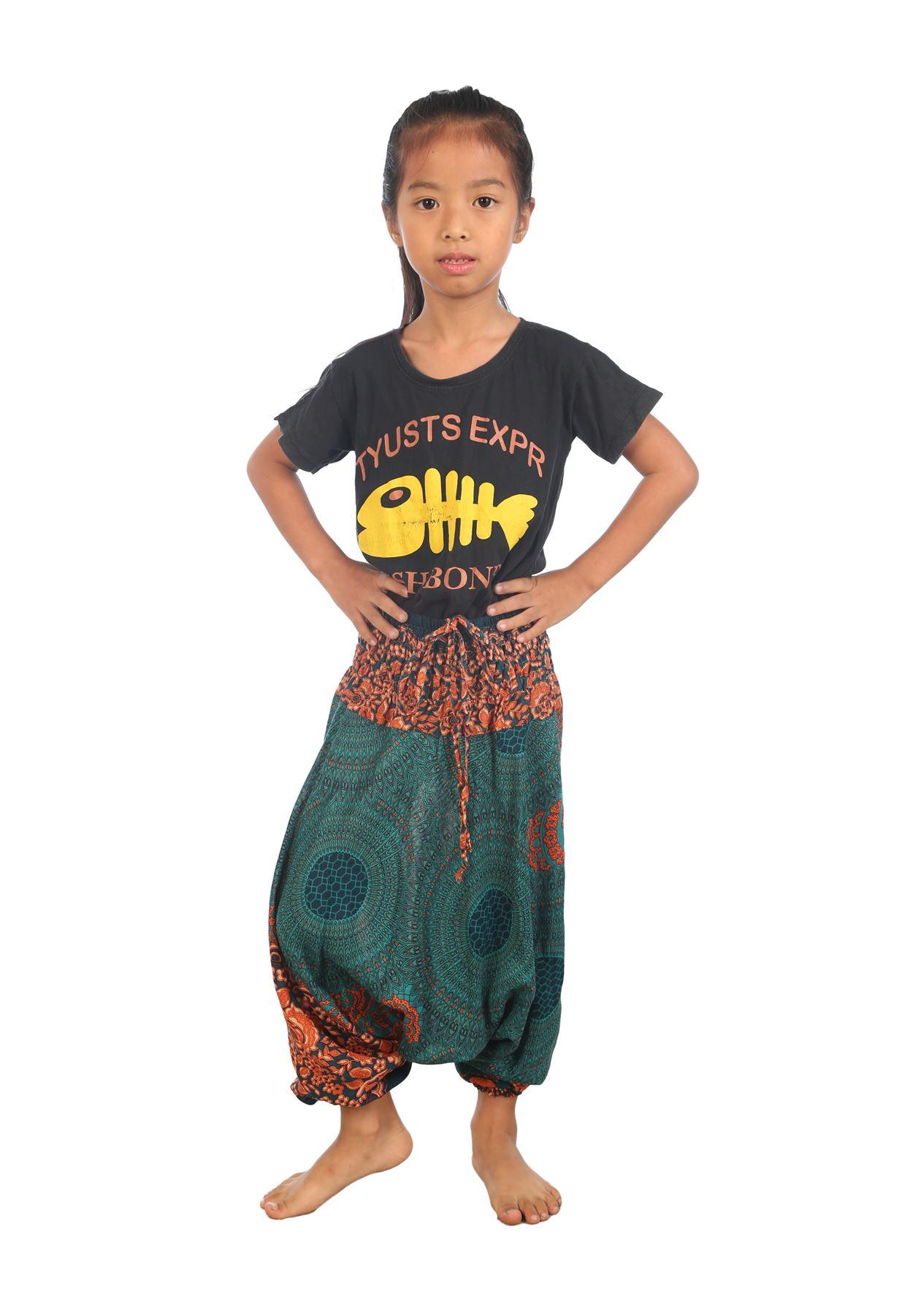 Kids Harem Trousers Hippie Children clothes Aladdin boho ...