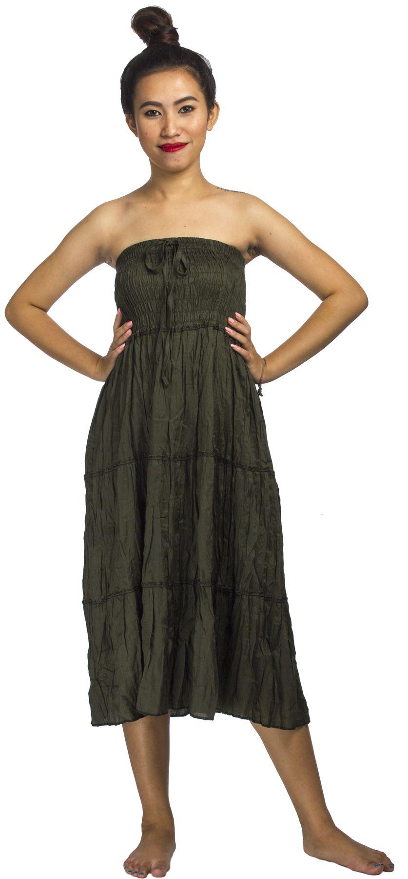 neu damen lang gesmokt rock kleid gypsy boho sommer ebay. Black Bedroom Furniture Sets. Home Design Ideas