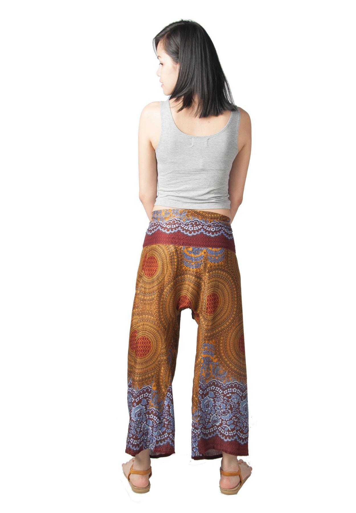 Lofbaz Women's Thai Fisherman Wide Leg Pants Trousers ...