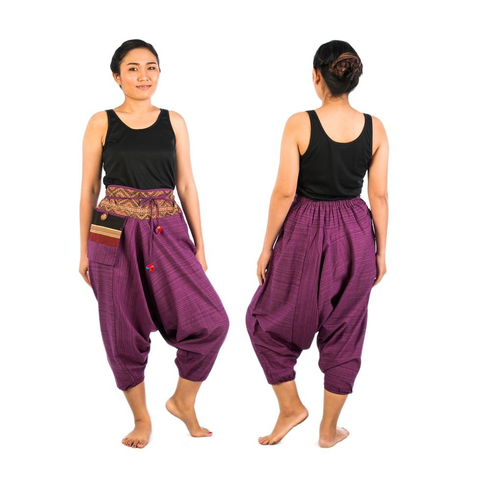 Pants from Thailand go by many names: Thai pants, elephant pants, genie pants hippie pants, and harem trousers but no matter the name, the quality and artwork of our boho clothing is outstanding. And now we have beautiful boho bags, yoga mat straps, aladdin pants & kimonos to pair them with to help you complete the perfect boho look.