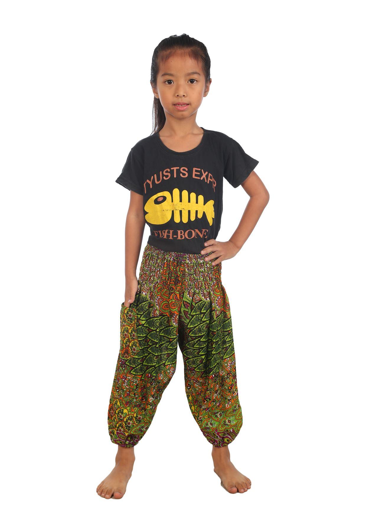 Kids Hippie Trousers Child boho clothes Aladdin Pants ...