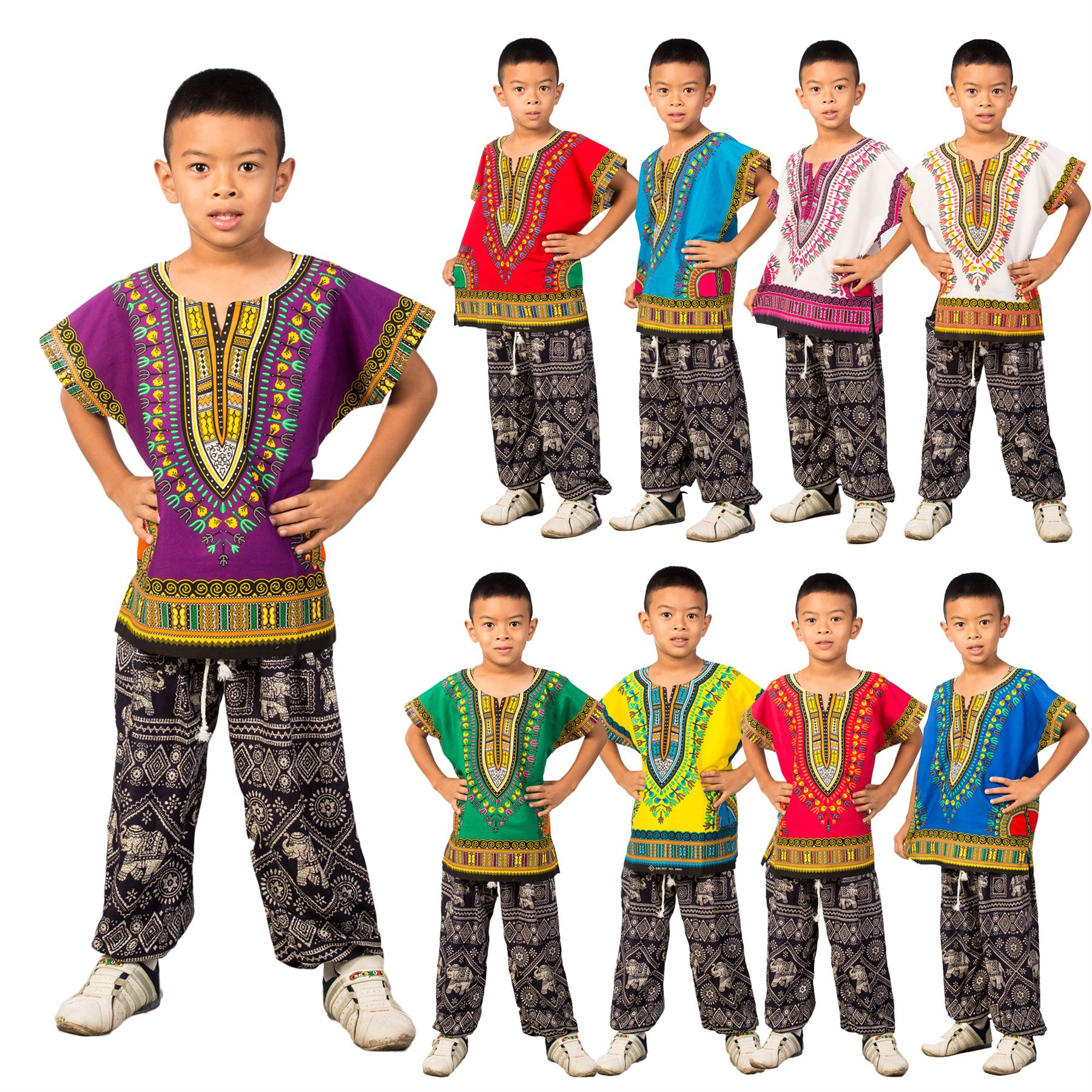 Childs Kids African Traditional Dashiki Tribal Festival ...