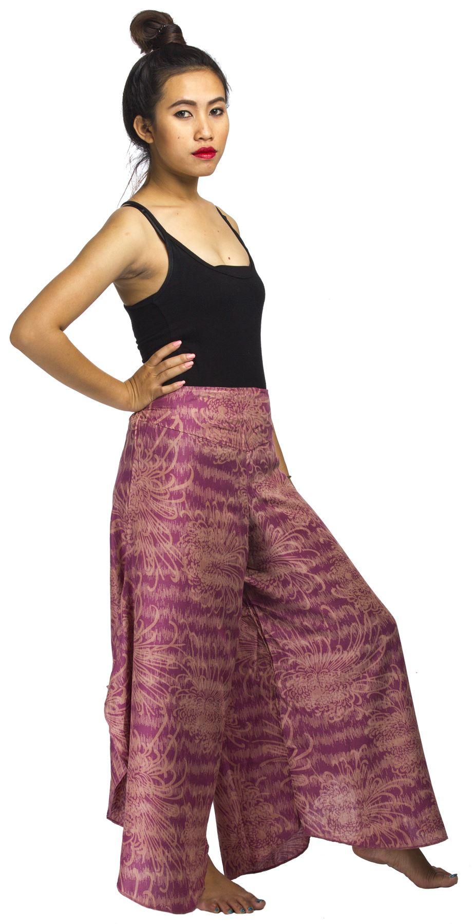 Awesome New Women Fisherman / Palazzo Pants Wrap Wide Leg Thai Silk Hippie Trousers L96 | EBay