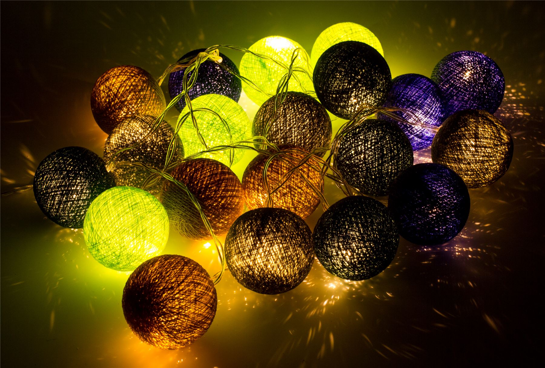Cotton Ball String Fairy Lights/Indoor Christmas Bedroom Party Patio Wedding