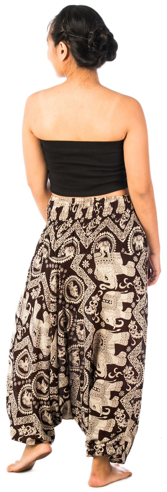 Gypsy Hippie Aladdin Genie Hammer Thai Elephant Women Harem Pants Trousers