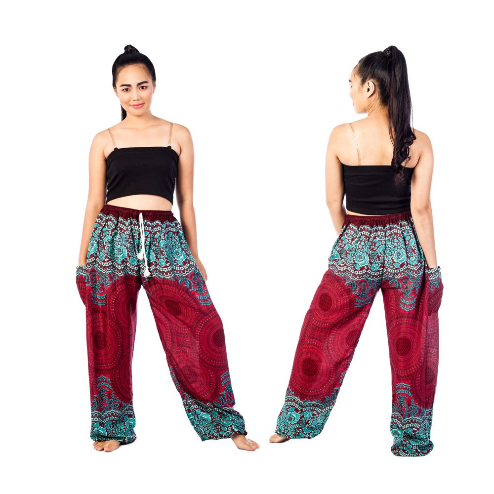 Harem Pants - Aladdin Drawstring Trousers Alibaba Hippie Festival Boho