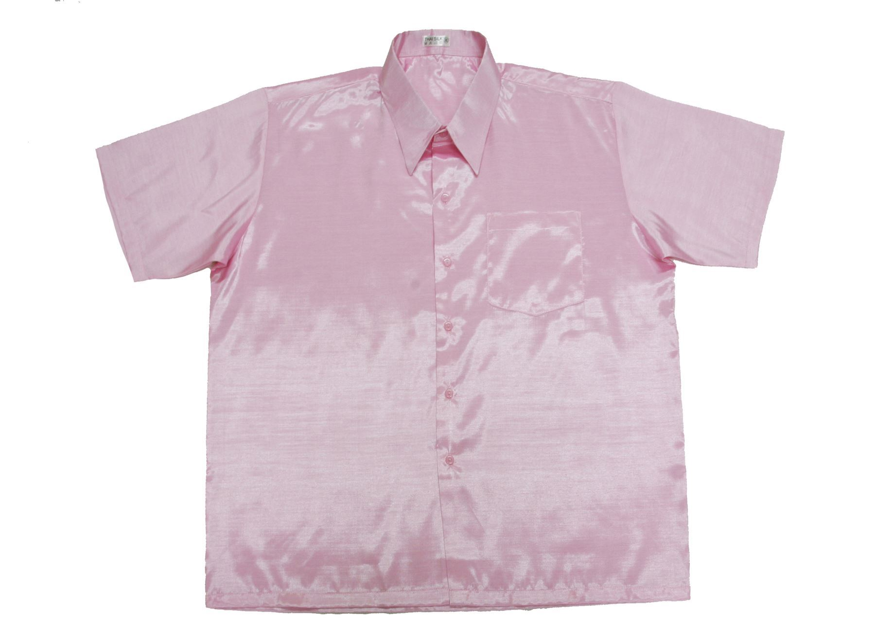 New mens thai silk shirts s 3xl short or long sleeve for Long sleeve silk shirt dress