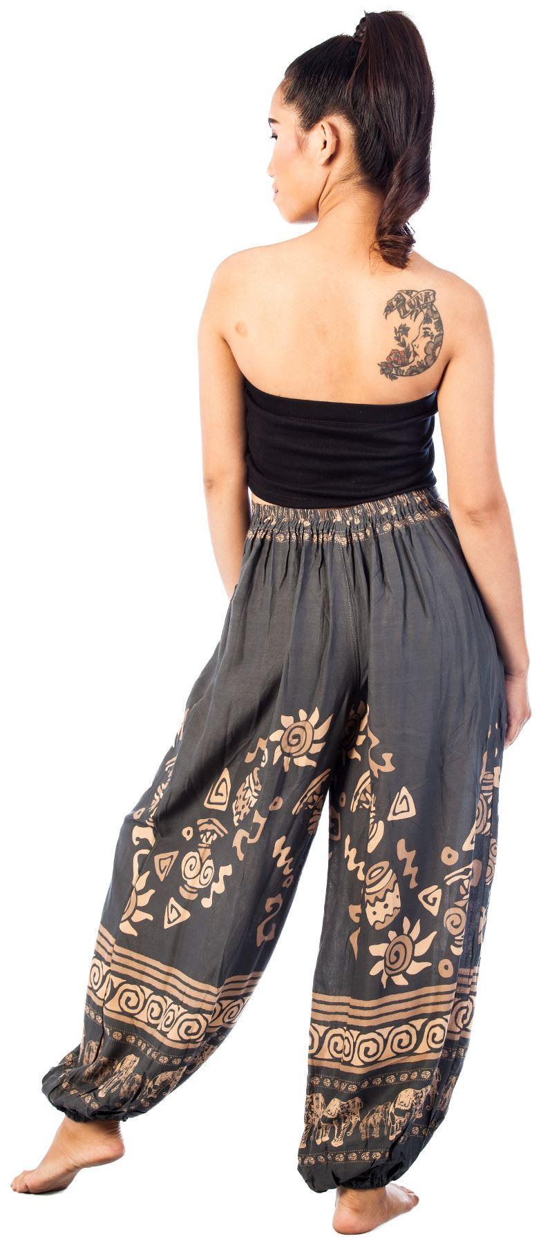 Women Elephant Genie Boho Pants Yoga Gypsy Baggy Aladdin ...