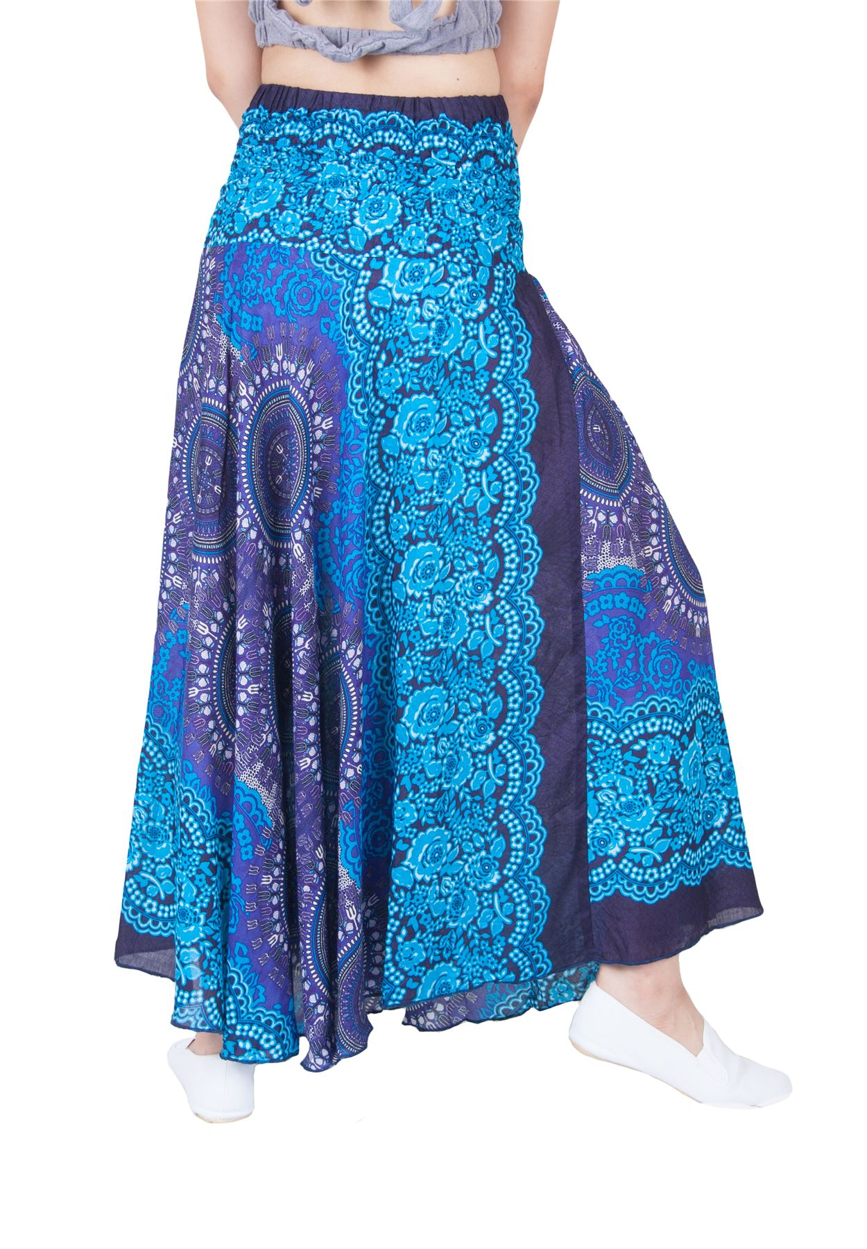 Lofbaz Women's Bohemian Boho Hippie Gypsy Long Skirts ...