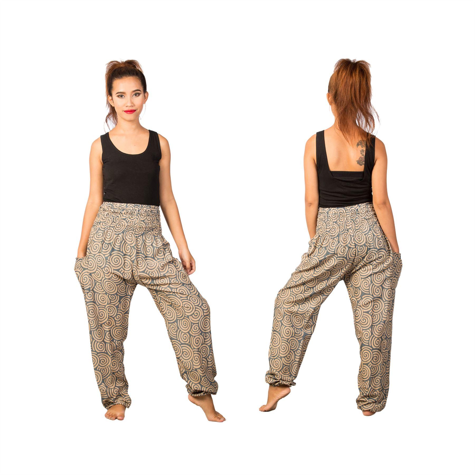 Lofbaz-Unisex-Pattern-Loose-Fit-Smock-Boho-Yoga-Active-Pants