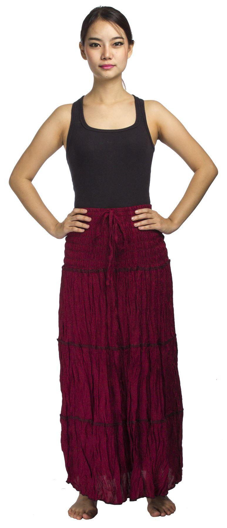 Neu damen lang gesmokt rock kleid gypsy boho sommer ebay for Rockabilly kleid lang