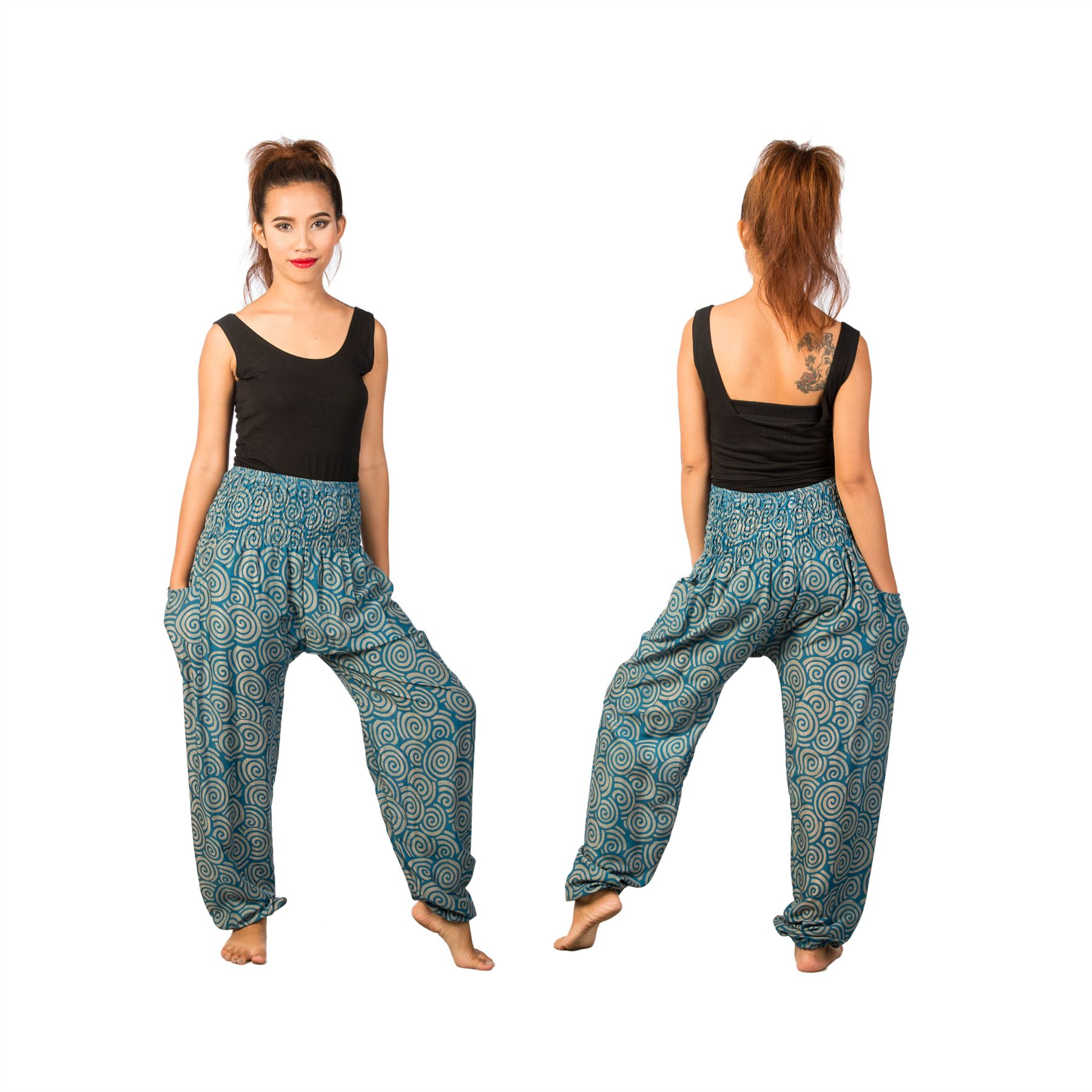 Lofbaz-Unisex-Pattern-Loose-Fit-Smock-Boho-Yoga-Active-Pants