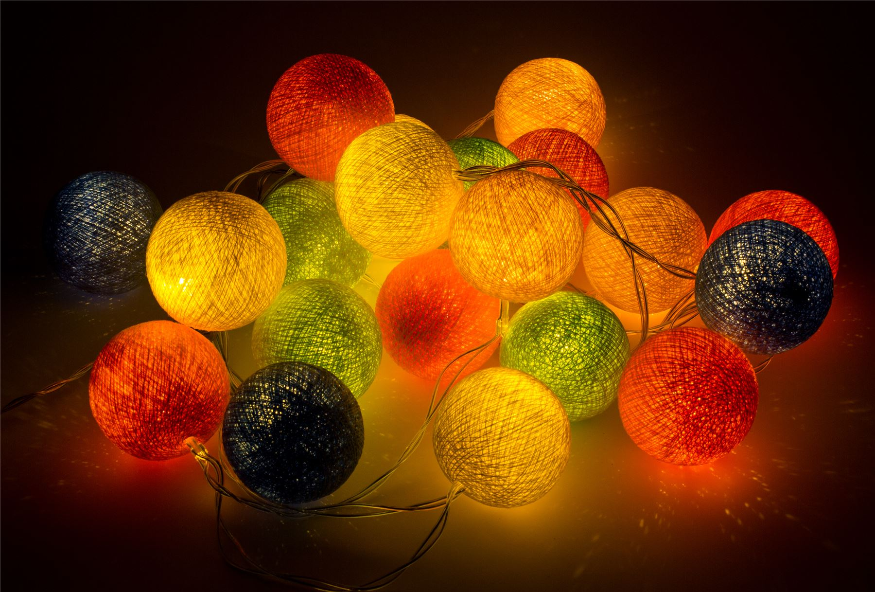 Ball String Lights Indoor : Cotton Ball String Fairy Lights/Indoor Christmas Bedroom Party Patio Wedding eBay