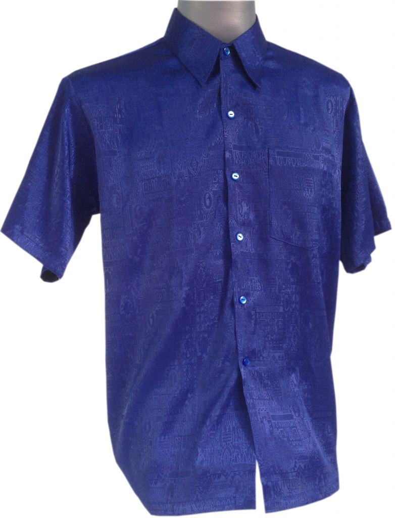 new mens jacquard thai silk shirts casual button down