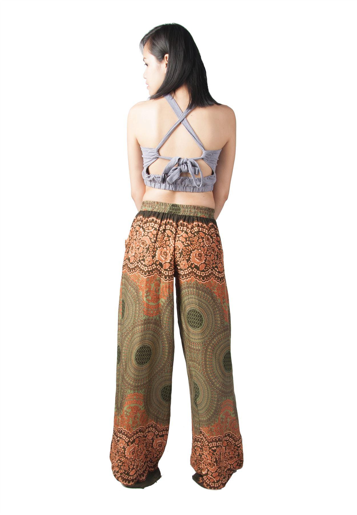 Perfect Womenu0026#39;s Palazzo High Waist Flared Wide Leg Loose Bohemian Trousers Pants | EBay