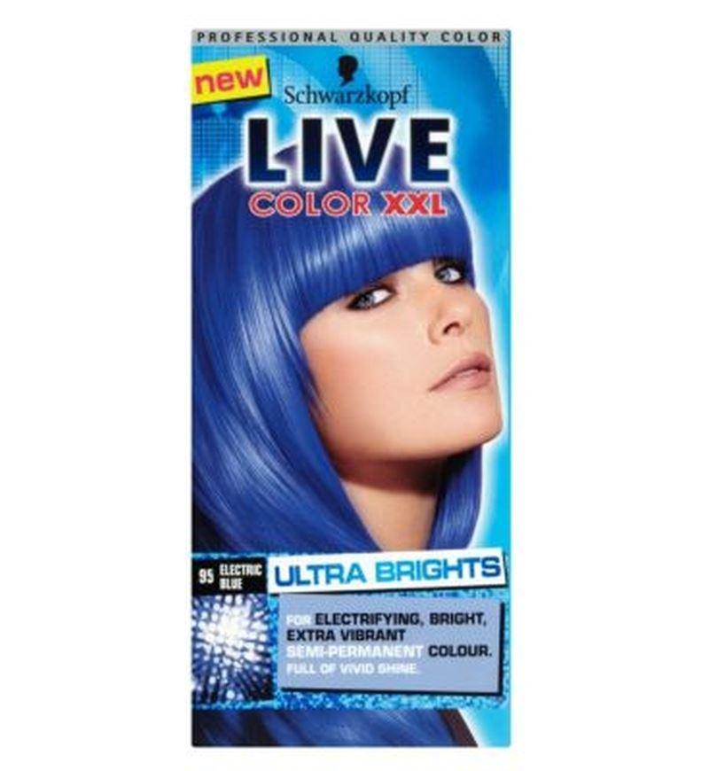 Schwarzkopf Live Color Xxl 95 Electric Blue SemiPermanent Blue Hair Dye  EBay