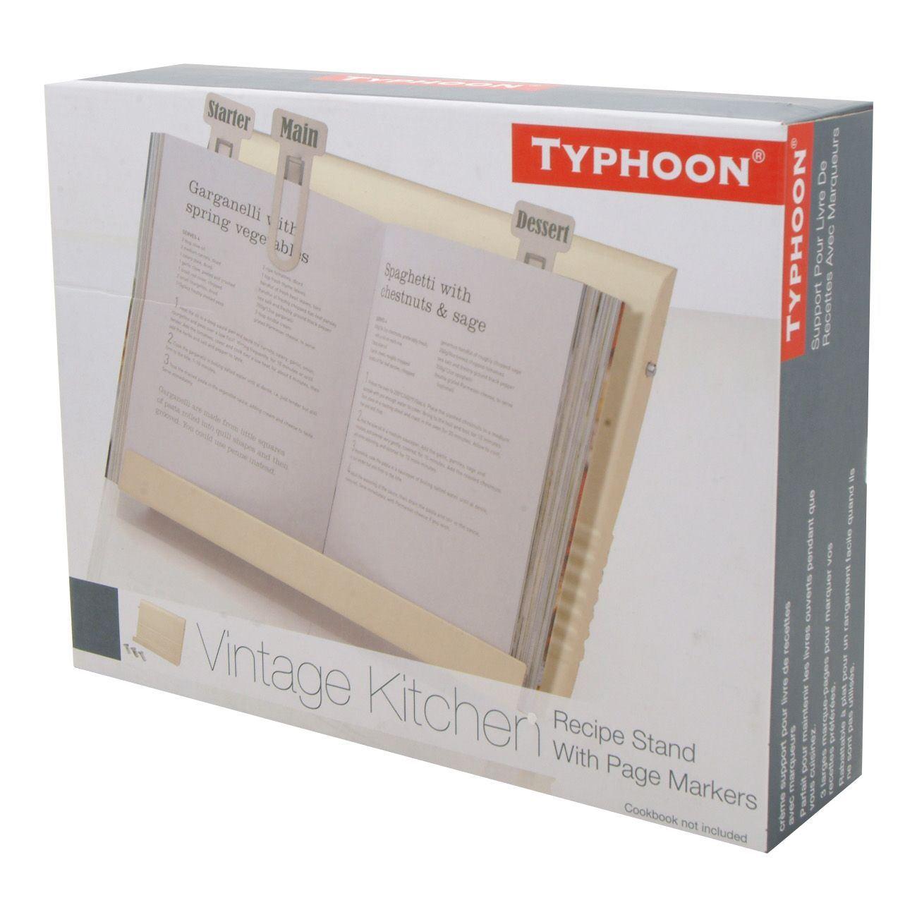 Typhoon vintage kitchen cream recipe book holder ebay - Cream recipe book stand ...