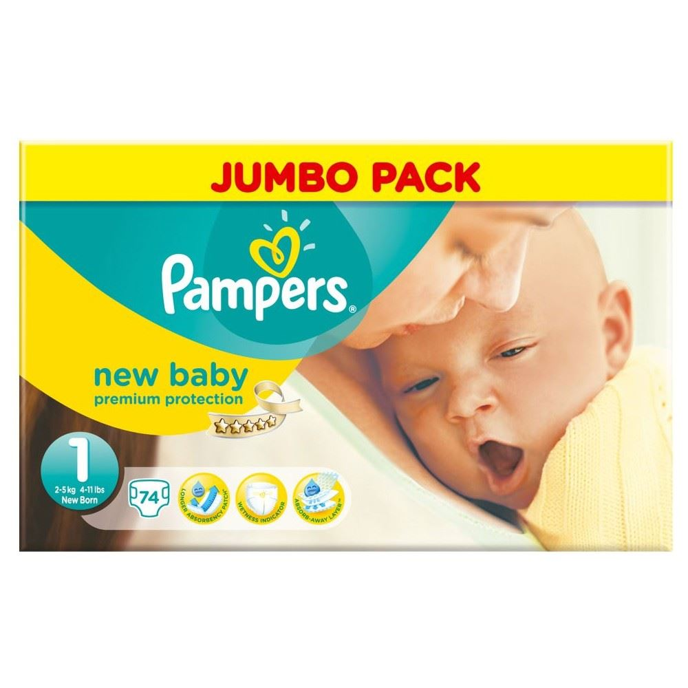 pampers new baby size 1 newborn 2 5kg 74. Black Bedroom Furniture Sets. Home Design Ideas
