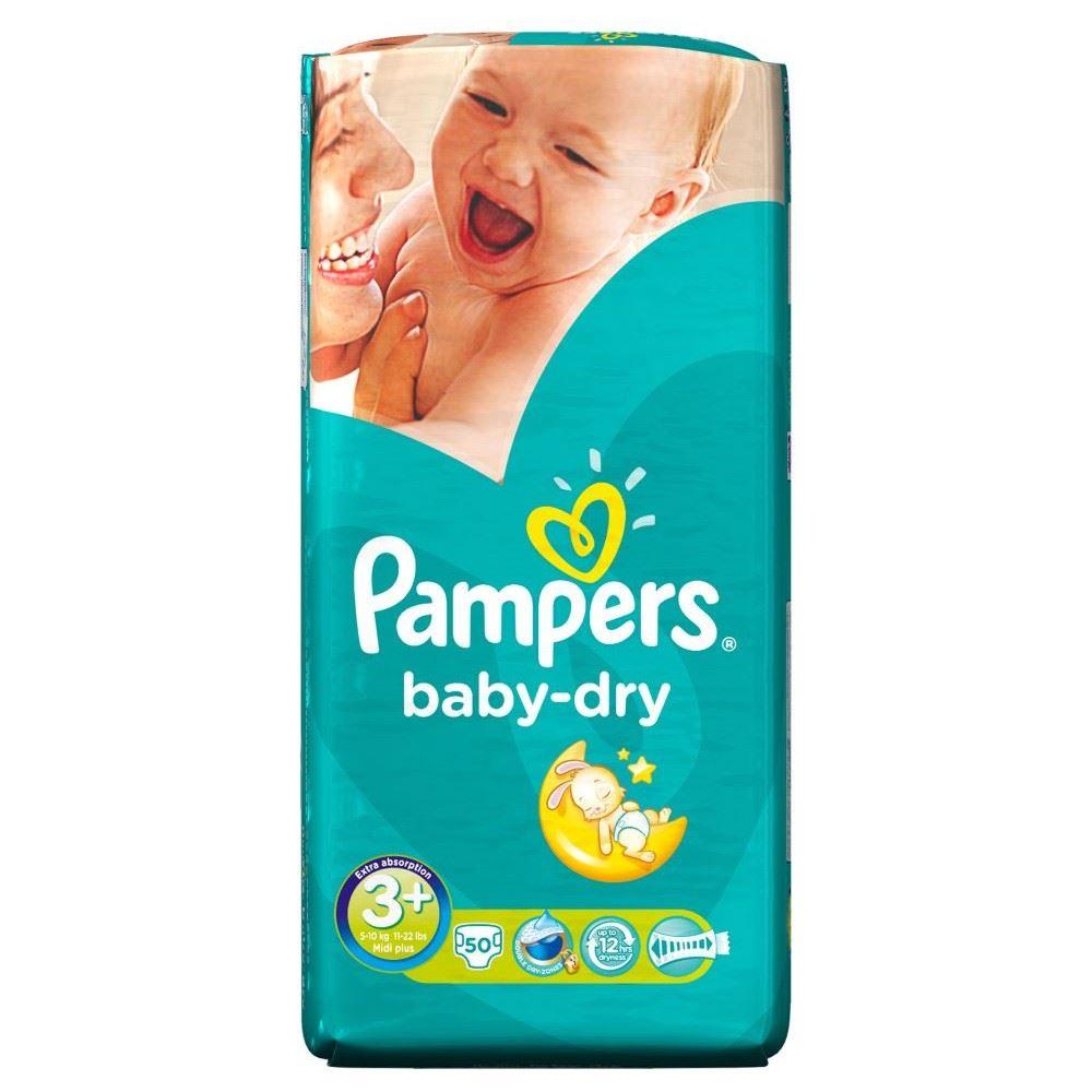 pampers baby dry size 3 midi plus 5 10kg 50. Black Bedroom Furniture Sets. Home Design Ideas