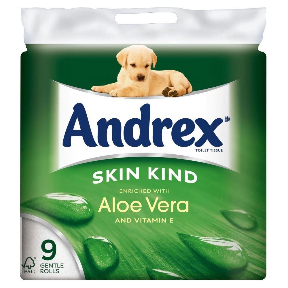 Andrex Skin Kind Aloe Vera Toilet Tissue Rolls 160