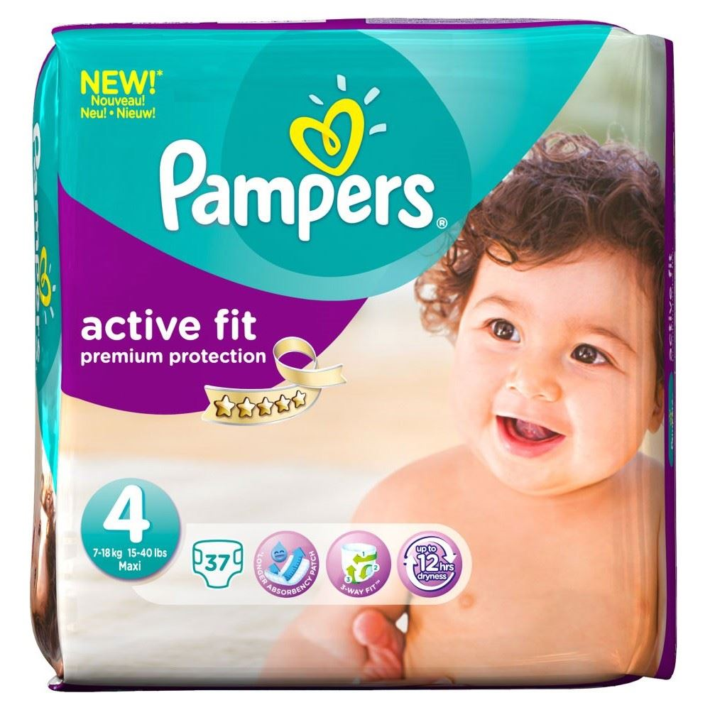 Pampers Active Fit Size 4 Maxi 7-18kg (37) | eBay