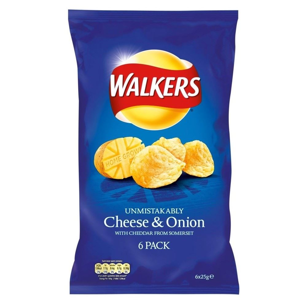 walkers crisps cheese   onion  6x25g  ebay just cheese pizza just cheese sandwich