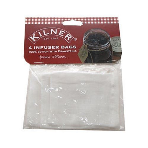 Kilner Set of 4 Infuser Spice Bags - Perfect Jam / Preserve Making