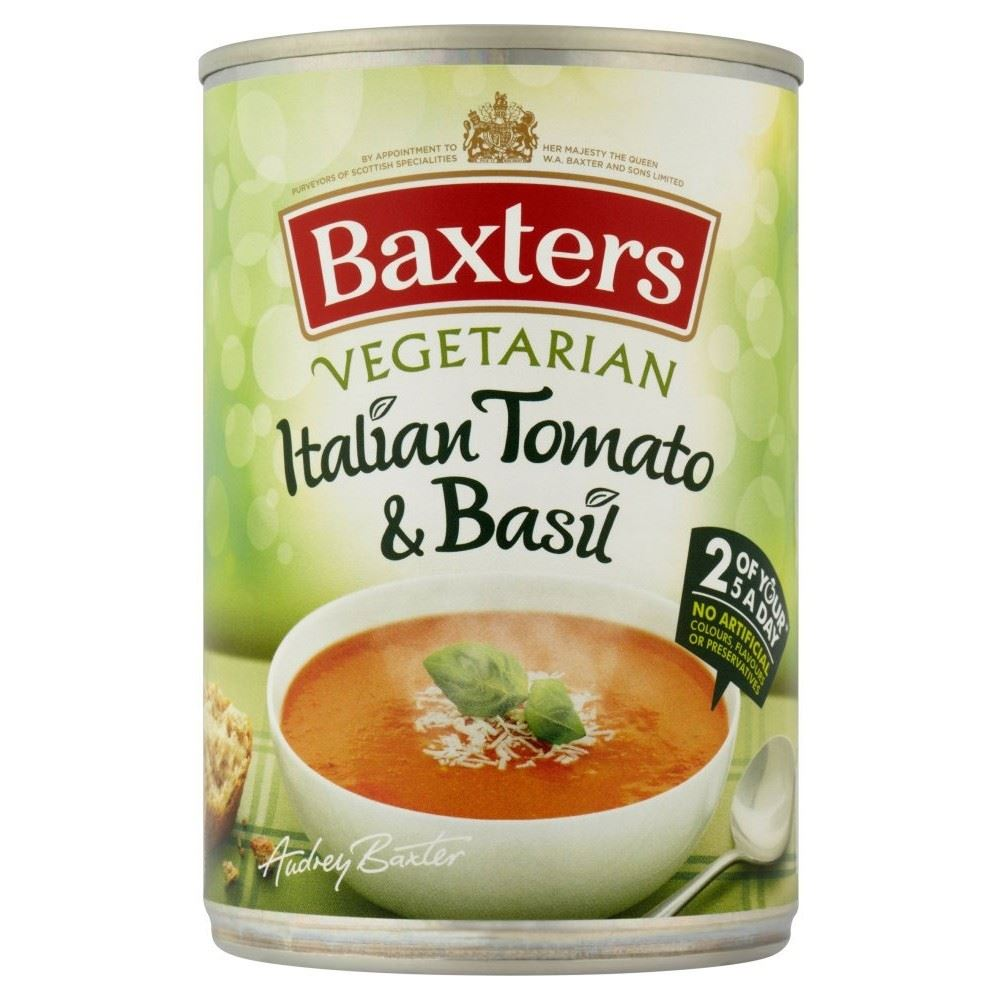 Baxters Vegetarian Italian Tomato with Basil Soup (400g) for sale