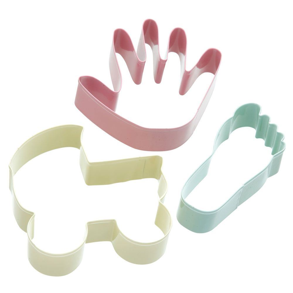 details about cookie cutter set baby foot and hand patterned set of