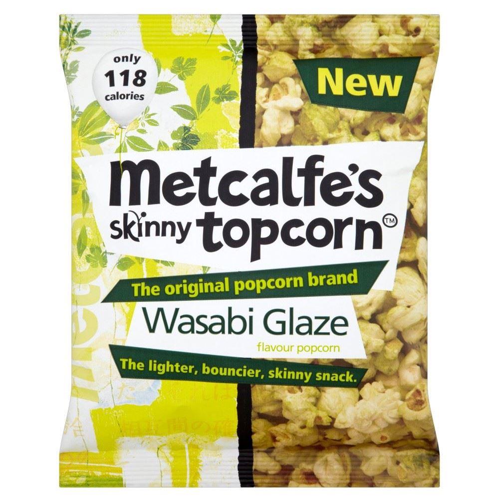 Metcalfes Skinny Topcorn Popcorn  Wasabi Glaze (25g)  eBay # Wasbak Glas_232716