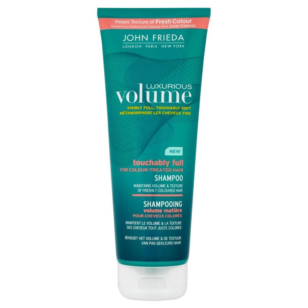 john frieda luxurious volume touchably shampoo for colour treated hair 250ml. Black Bedroom Furniture Sets. Home Design Ideas