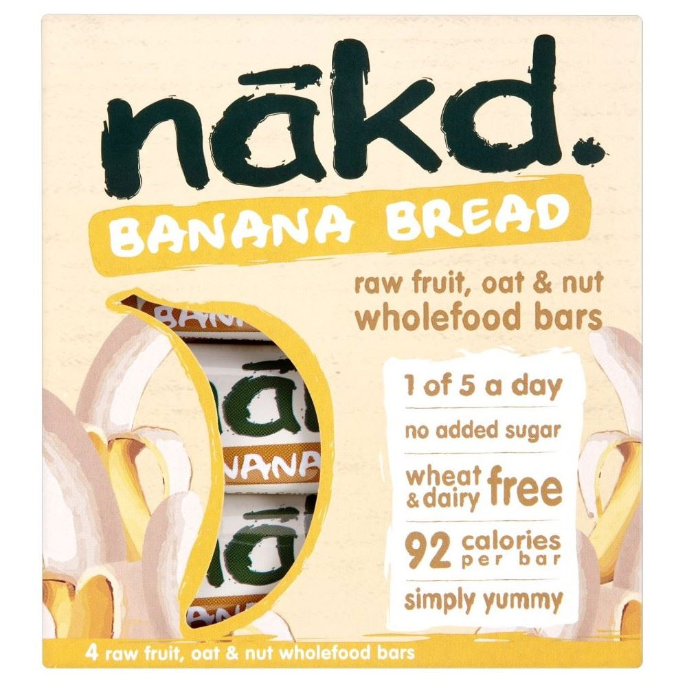 Nakd banana bread raw fruit oat nut wholefood bars for Raw food bars uk