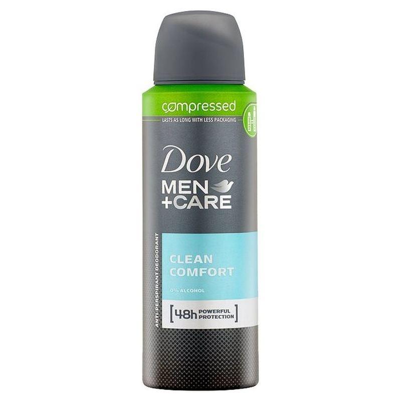 dove men care clean comfort spray compressed anti perspirant deodorant