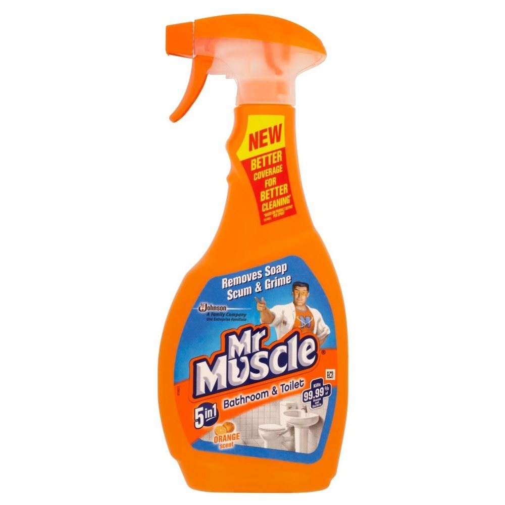 Mr muscle 5in1 bathroom toilet citrus cleaner 500ml ebay for Mr muscle bathroom and toilet cleaner