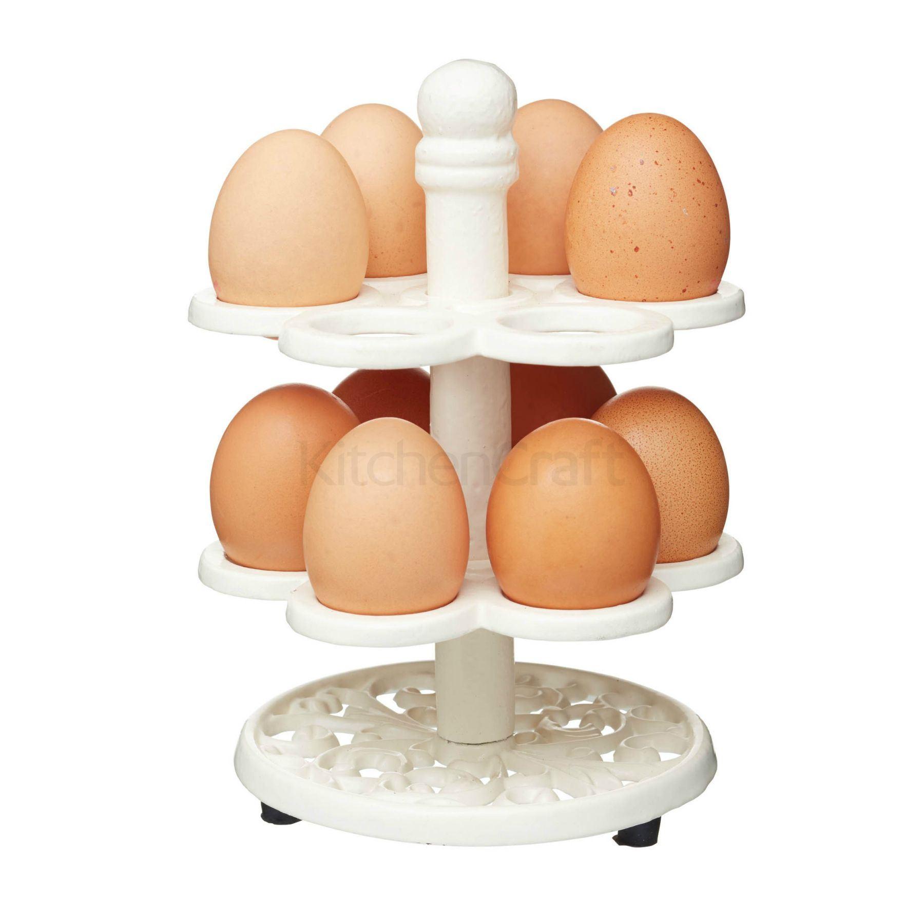 Kitchen Craft Kitchen Craft Cast Iron Egg Holder Cream 14 X 20cm Ebay