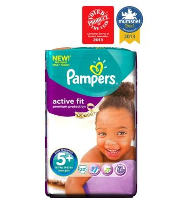 pampers active fit nappies size 5 carry pack 20 nappies ebay. Black Bedroom Furniture Sets. Home Design Ideas