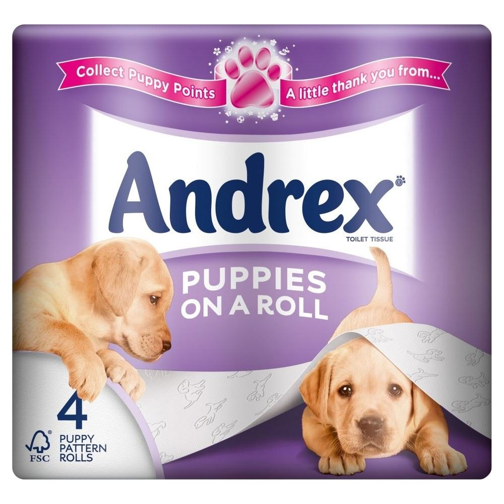 Andrex Puppies On A Roll Toilet Tissue Rolls 210 Sheets