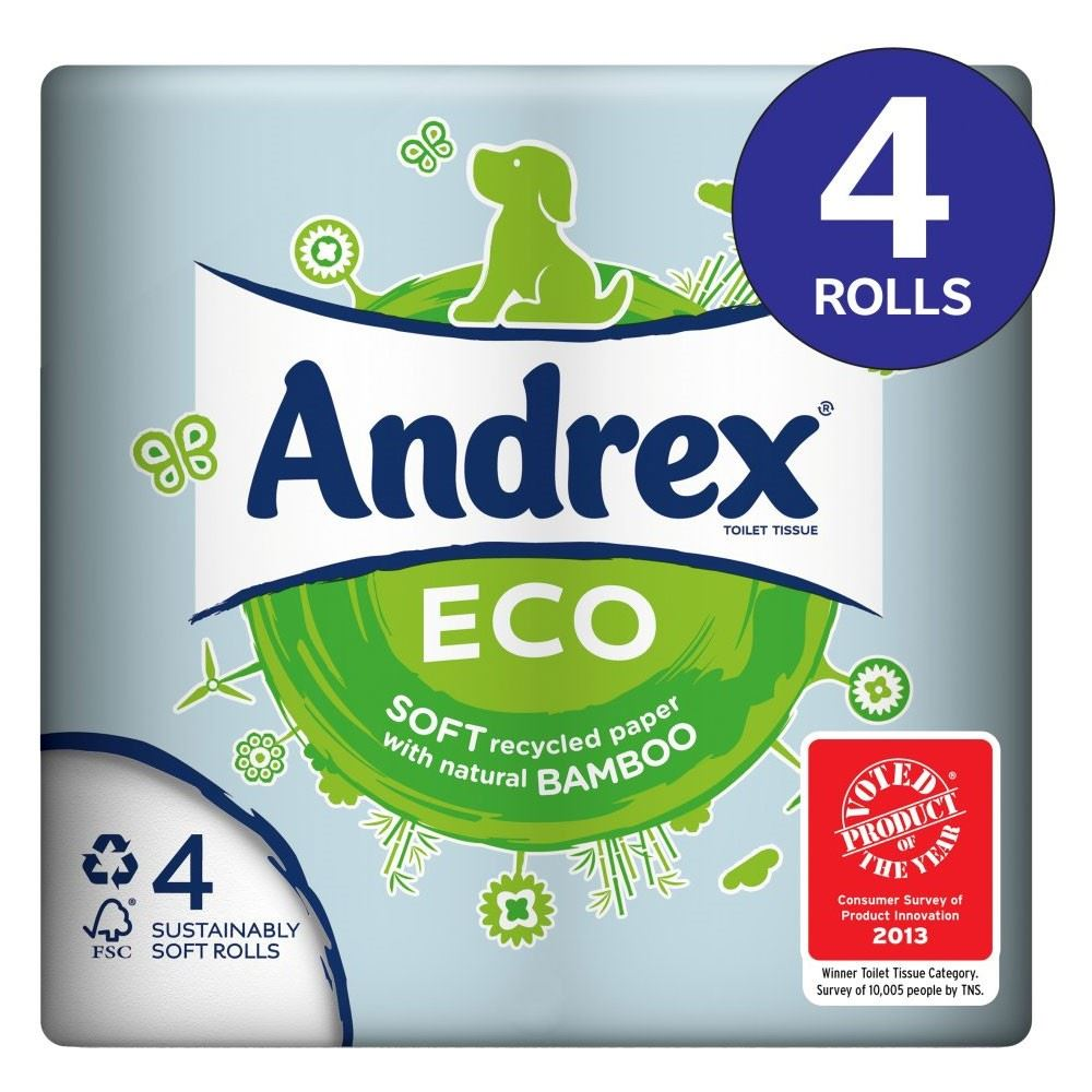 Andrex Eco Toilet Tissue Rolls 180 Sheets Per Roll 4