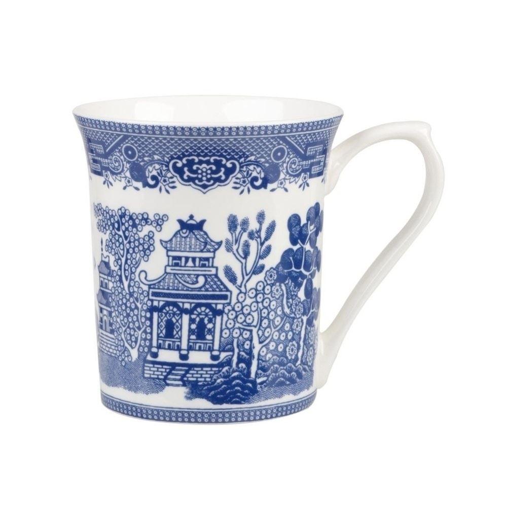 Churchill blue willow fine blue china mug ebay for Blue mug designs