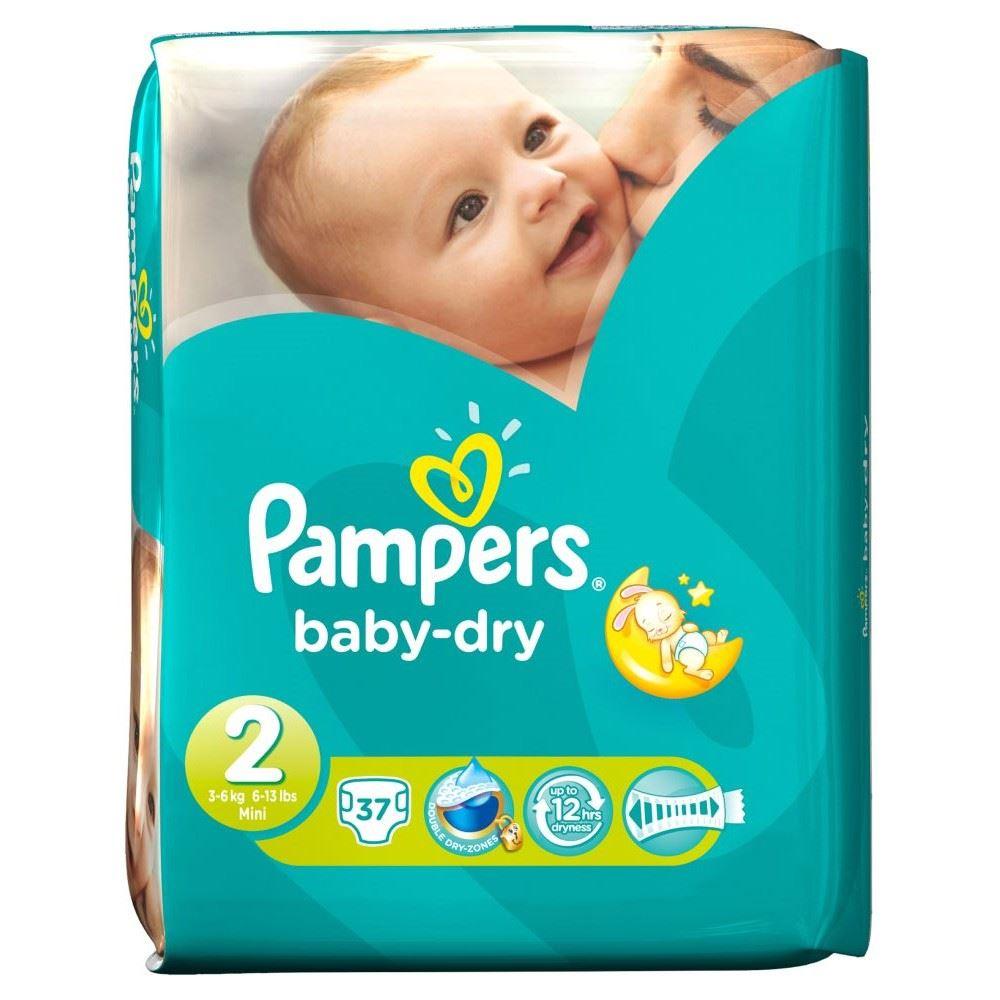 pampers baby dry size 2 mini 3 6kg 37 ebay. Black Bedroom Furniture Sets. Home Design Ideas