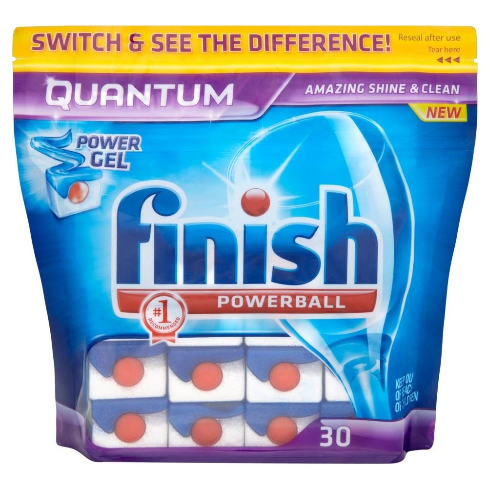 Finish Quantum Powerball Dishwasher Tablets 30 Ebay
