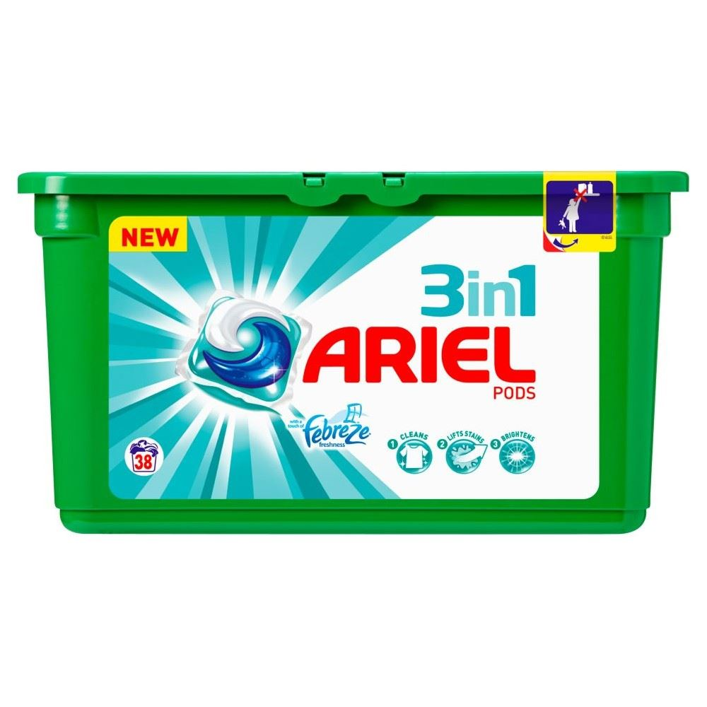 Ariel 3in1 Pods With Febreze 38 Washes 38 Ebay