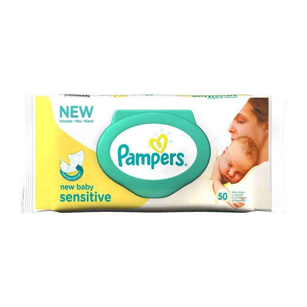 pampers new baby sensitive wipes 50 ebay. Black Bedroom Furniture Sets. Home Design Ideas