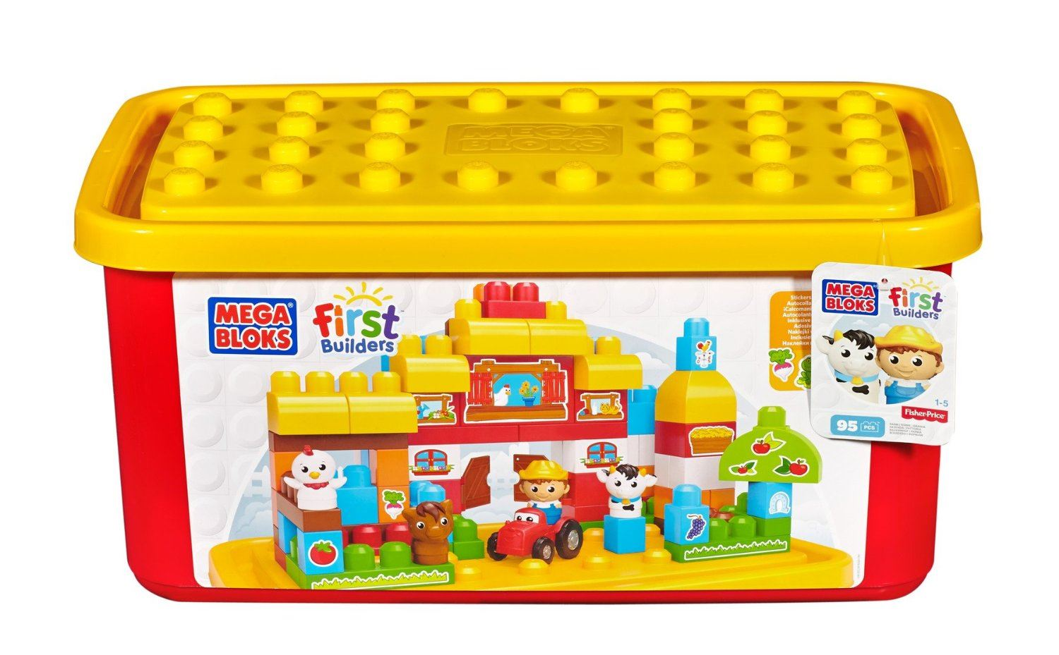 Mega bloks first builders farm tub ebay for Builders first