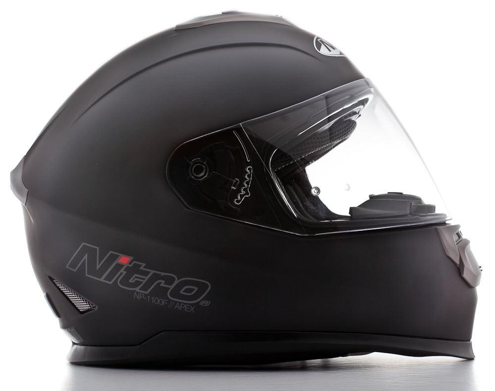 Nitro NP-1100F Apex Motorcycle Motorbike Dual Visor Road Crash Full Face Helmet