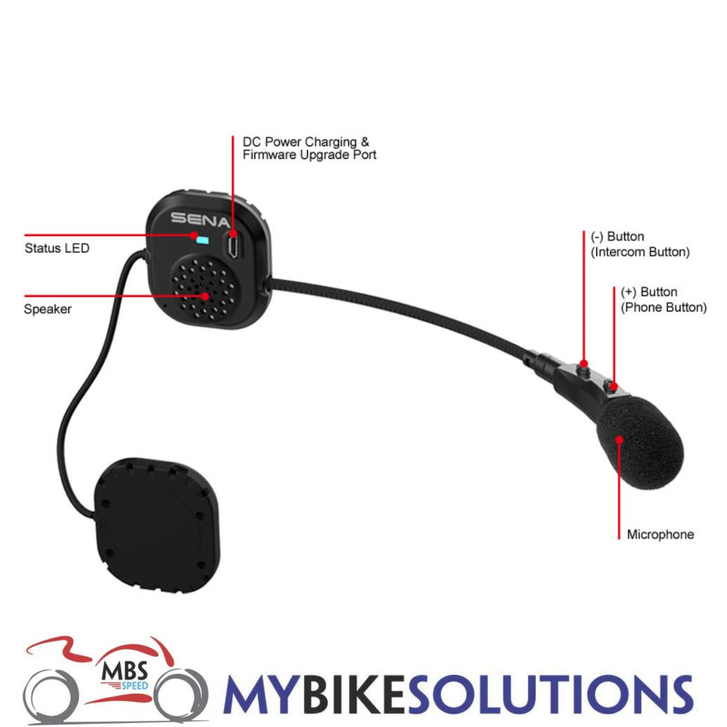 sena smh3 single bluetooth headset intercom for motorcycles bike scooter helmet ebay. Black Bedroom Furniture Sets. Home Design Ideas