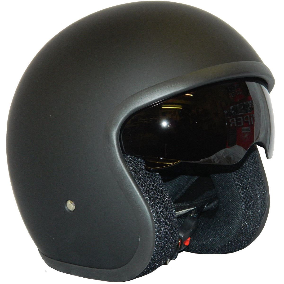 casque r tro moto mat scooter ouvert visiere pare soleil viper rs v06 ebay. Black Bedroom Furniture Sets. Home Design Ideas