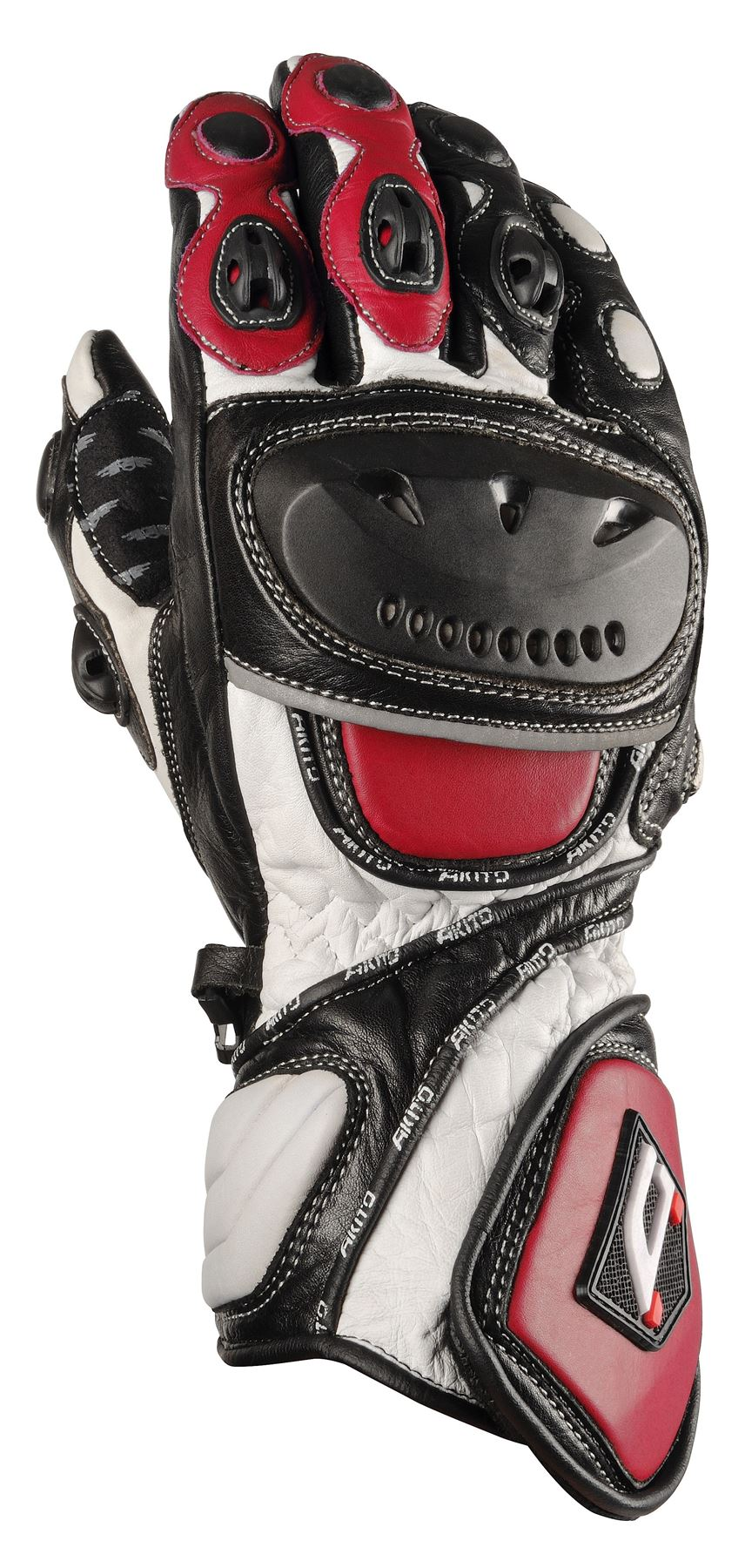 Motorcycle knuckle gloves - Akito Sport Max Leather Knuckle Protection Motorcycle Gloves