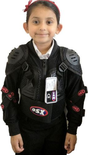 KIDS-CHILDREN-MOTORCROSS-BODY-ARMOUR-CHEST-BACK-ELBOW-SHOULDER-PROTECTOR-BELT